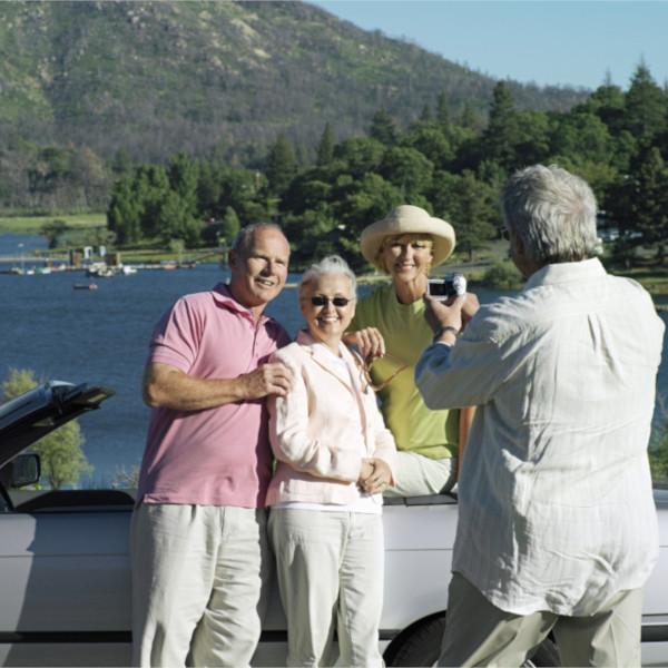Senioren Pärchen beim Fotoshooting