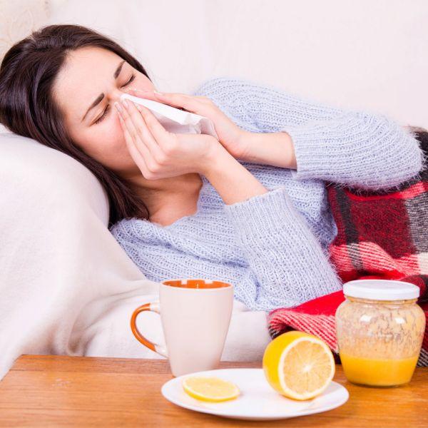 Krank auf der Couch